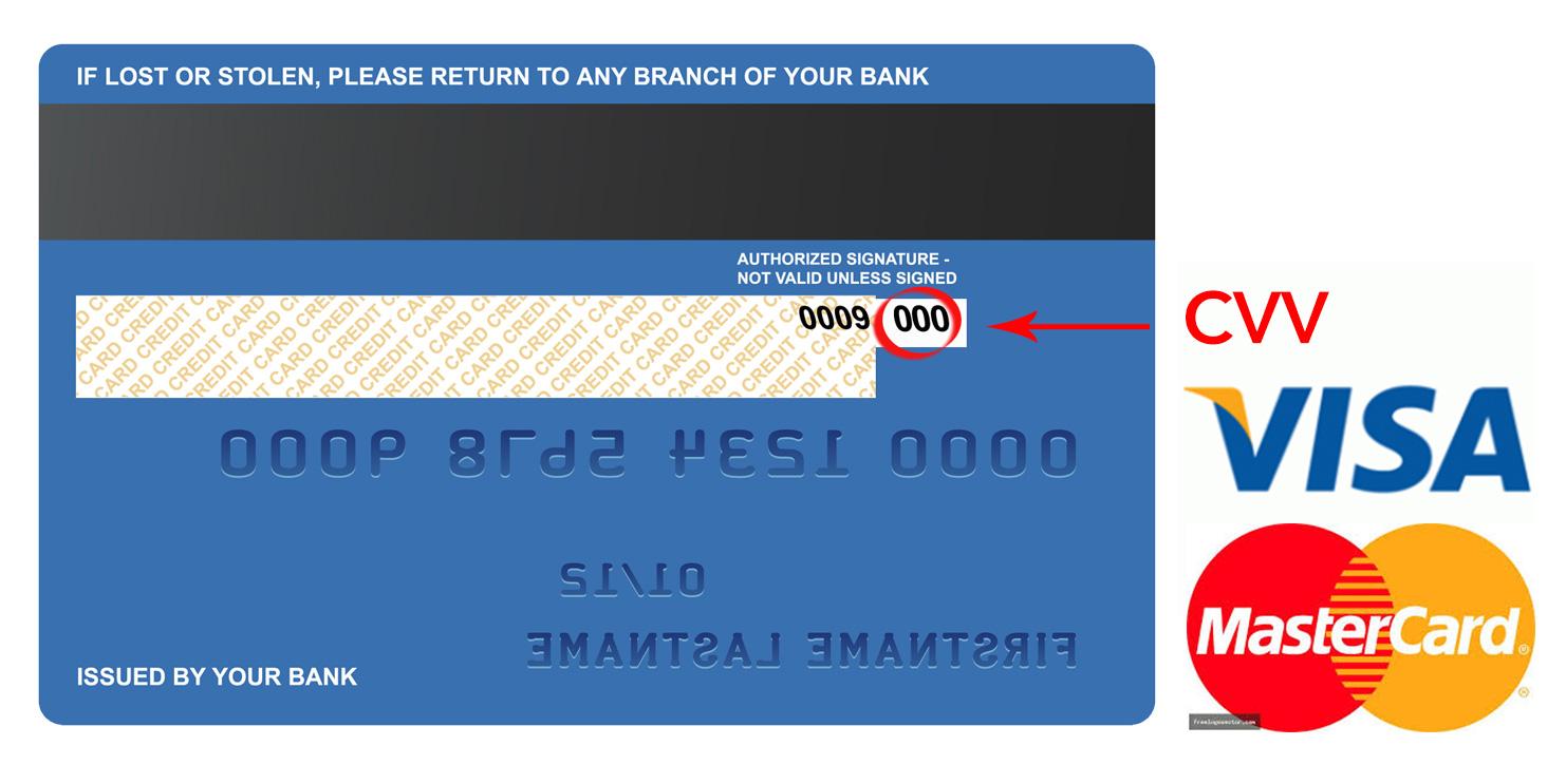 CVV, số thẻ tín dụng