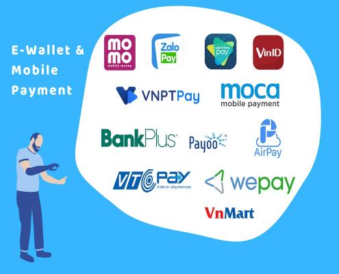 rút tiền từ ví điện tử