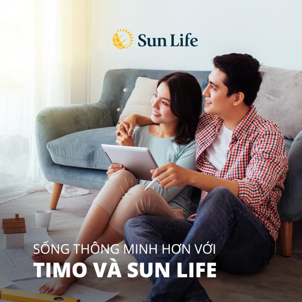 Mua bảo hiểm nhân thọ SunLife với Timo