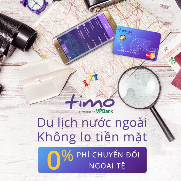 Miễn phí phí chuyển đổi ngoại tệ Thẻ Tín Dụng Mastercard Timo