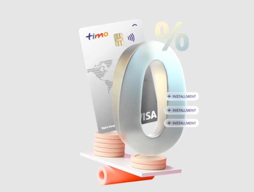Đăng ký thẻ tín dụng Timo Visa nhiều ưu đãi