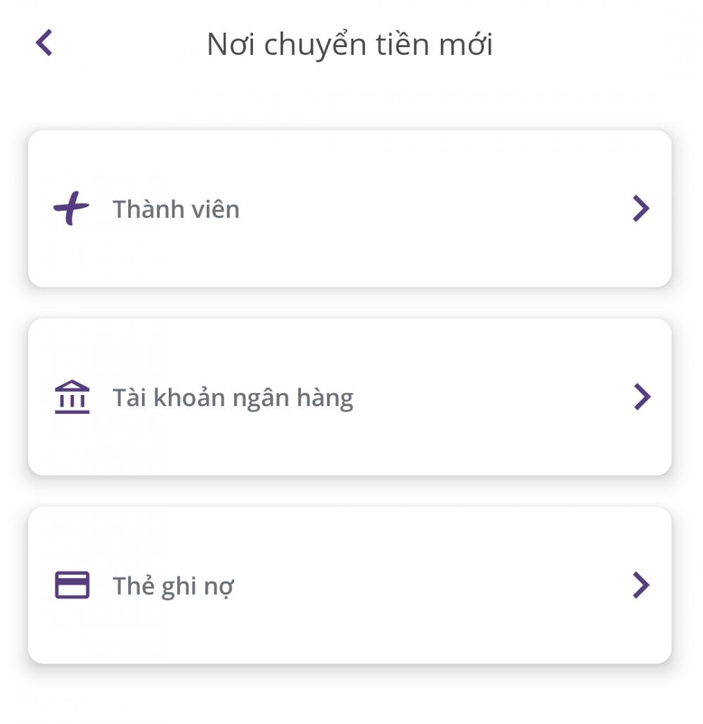 Chuyển tiền qua ứng dụng Timo