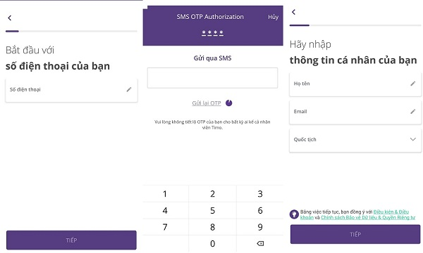 cách mở tài khoản online Timo