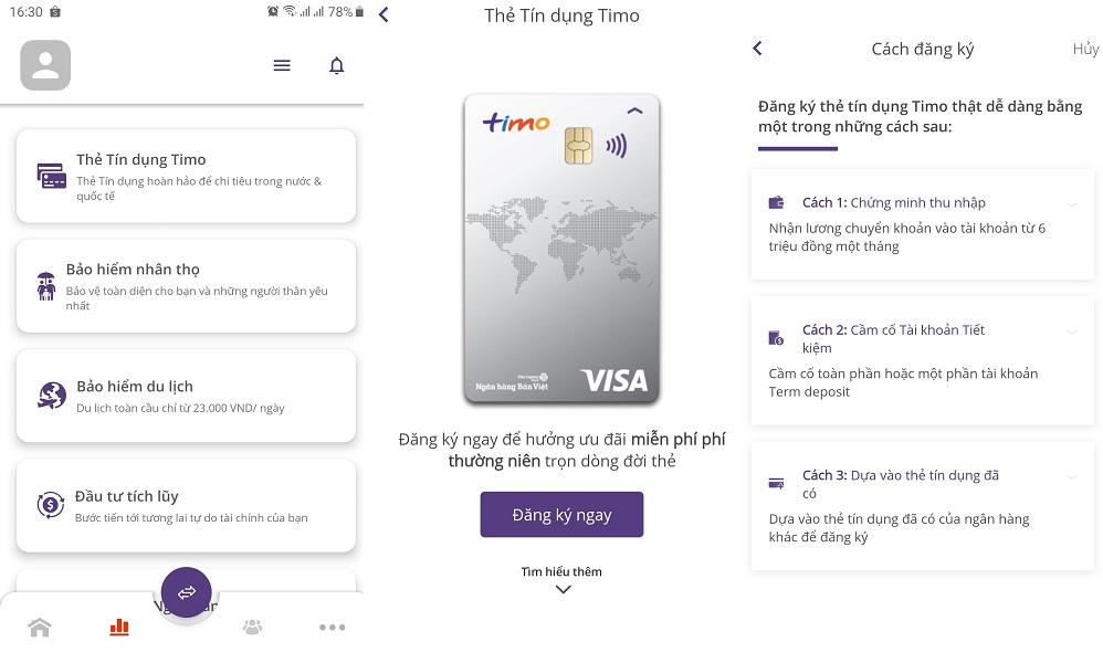 Hướng dẫn cách làm thẻ thanh toán quốc tế Timo Visa online